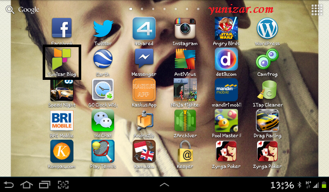Screenshot di Tablet